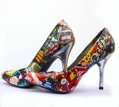 Marvel comic book shoes 1