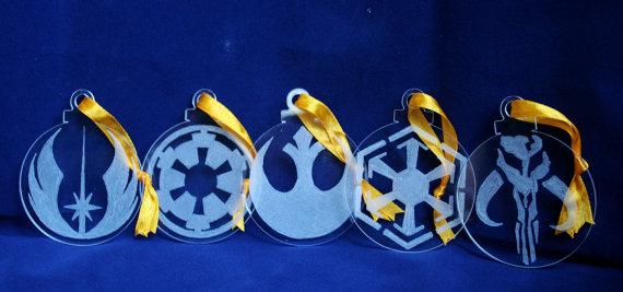 star wars glass ornaments
