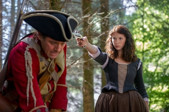 (R) Caitriona Balfe as Claire Randall in 'Outlander.' (Neil Davidson/Starz)