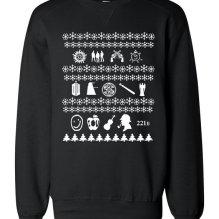superwholock christmas sweater black