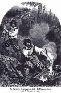 Vampires lithograph by R. de Moraine (1864)