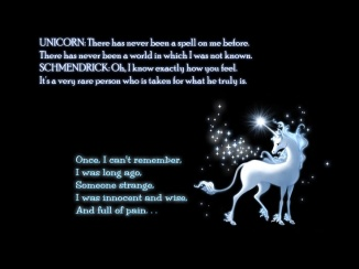 The Last Unicorn quotable