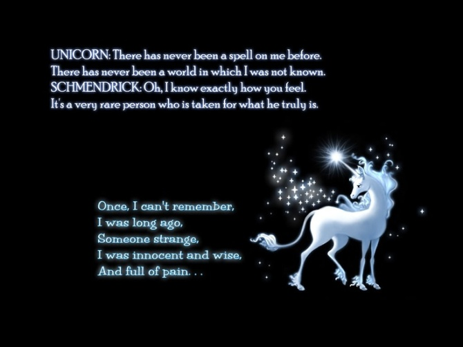 The Last Unicorn quotable