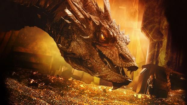 The_Hobbit_The_Desolation_of_Smaug-Smaug-Bilbo_Baggins-dragon-treasure-gold