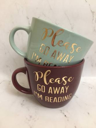 Book Lover Go Away Mug 1'