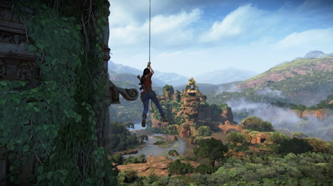 Uncharted The Lost Legacy swinging