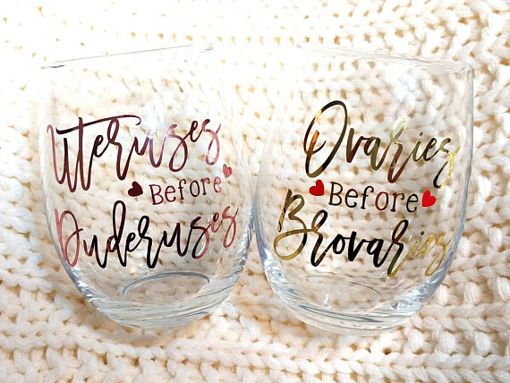 Parks and Recreation Customized Stemless Wine Glass