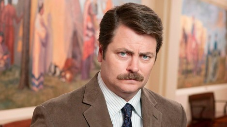 "Nick Offerman stars as Ron Swanson in NBC comedy ""Parks and Recreation."" The show airs on Thursdays on NBC (8:30-9 p.m. ET). (Mitchell Haaseth/Courtesy NBC/MCT)"