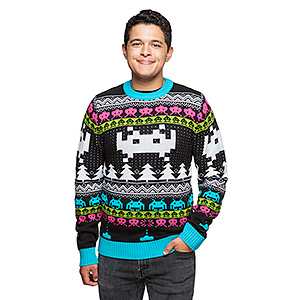 space invaders sweater