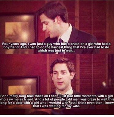 Jim and Pam romance