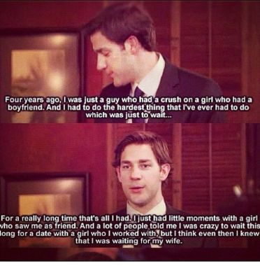 Jim and Pam romance