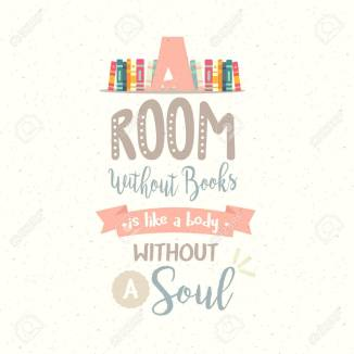 a room without book body without soul vector quotes reading